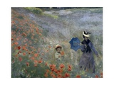 Wild Poppies Print by Claude Monet