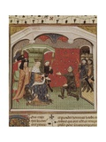 Bertrand Du Guesclin (1315-1380) Kneeling to Charles V of France Print