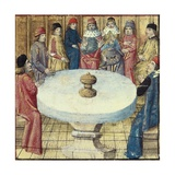 Apparition of the Holy Grail on the Round Table Poster
