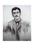 Portrait of Joaquin Alvarez Quintero Prints by Ramon Casas i Carbo