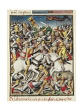 Byzantine Emperor Heraclius Defeating Saracens Art by Vincent de Beauvais