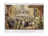 Coronation of the King Pedro II, Brazil in 1939 Giclee Print by Jean Baptiste Debret