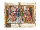 Gothic Representation or Ancient Romans: L-R, Atticus, Laelius, Scipio and Cato Print