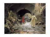 Father Jofre Protecting a Madman Giclee Print by Joaquín Sorolla y Bastida