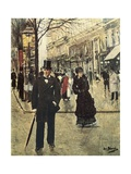 On the Boulevard Prints by Jean Béraud