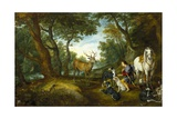 Vision of Saint Hubertus Prints by  Jan Brueghel and Peter Paul Rubens