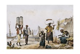 Coal and Vegetable Sellers Art by Jean Baptiste Debret