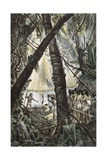 Goyanas Indians in the Wild Jungle Giclee Print by Jean Baptiste Debret