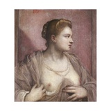Woman Revealing Her Breasts Prints by  Tintoretto
