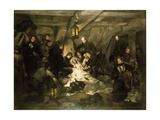 The Death of Nelson, Battle of Trafalgar, October 21, 1805 Giclee Print by Arthur Devis