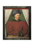 Portrait of Charles VII, King of France Giclee Print by Jean Fouquet
