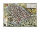 Map of Amsterdam Giclee Print by Abraham Ortelius