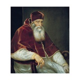 Portrait of Pope Paul III Poster by  Titian (Tiziano Vecelli)
