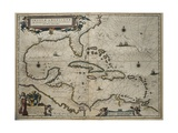 Map of the Caribbean Islands Prints by William and Jan Blaeu