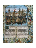Battle of L'Ecluse, Hundred Years' War Prints by Jean Froissart