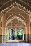 Alhambra, Nazari Palace, Palace of the Lions,Hall of Aljimences, 9-14th Century, Granada, Spain Photo