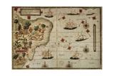 Map of Terra Brasilis Prints by Jorge Reinel