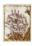 Map of Damascus (1377) Posters