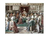 Pope Clement V Heads Council of Vienne (1311) to Suppress Knights Templar Prints by Cesare Nebbia