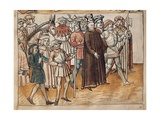 Jan Hus' Arrest in Constance Print by Ulrich Von Richental