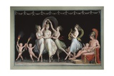 Graces and Venus Dancing in Front of Mars Giclee Print by Antonio Canova