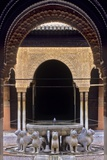 Alhambra, Nazari Palace, Court of the Lions, Built in 1377 by Mohamed V, Fountain, Granada, Spain Photo