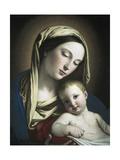 Virgen y el niño Posters por Giovanni Battista Salvi da Sassoferrato