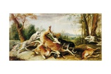 The Deer Hunt Print by Frans Snyders