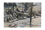 German Prisoners of War During the Battle of the Somme of 1916 Print by Francois Flameng