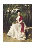 Teresa Vergara, Painter's Wife, Seated in a Garden Posters by Eduardo Balaca Y Canseco