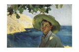 Boy with Hat Giclee Print by Joaquin Sorolla