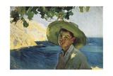 Boy with Hat Giclee Print by Joaquín Sorolla y Bastida