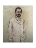 Portrait of Josep Puig I Cadafalch Print by Ramon Casas i Carbo