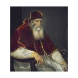 Portrait of Pope Paul III Plakater af Titian (Tiziano Vecelli)