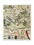 Catalan Atlas Prints by Jafuda and Abraham Cresques