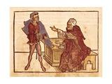 Jewish Usurer, in 'Sanctorum Peregrinationes in Terram Sanctam Prints by Bernhard von Breindenbach
