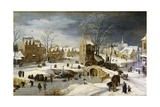 Winter Scene with Ice Skaters and Birds Prints by Pieter Brueghel the Younger