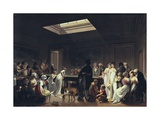 A Game of Billiards Giclee Print by Louis Leopold Boilly