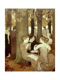 The Muses Premium Giclee Print by Maurice Denis