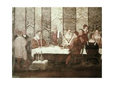 King Christian I of Denmark in a Banquet in the Malpaga Castle Prints by Marcello Fogolino