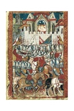 Siege of Pamplona by the Army of Charlemagne in 778 Prints