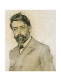 Portrait of Lluis Graner Prints by Ramon Casas i Carbo
