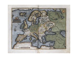 Map of Europe Giclee Print by Abraham Ortelius
