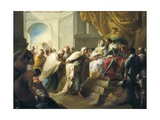 Catholic Kings with an Embassy from the King of Fez Giclee Print by Vicente Lopez y Portana