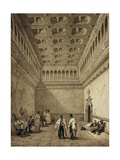 Santa Isabel Hall in the Aljaferia Palace, Zaragoza Giclee Print by Jenaro Perez Villaamil