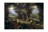Earthly Paradise Print by Jan Brueghel the Elder