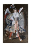 Osiel Dei, Angel 'Arcabucero', in Military Clothing with and Shield Posters