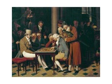 Game of Draughts at the Cafe Lamblin Print by Louis Leopold Boilly