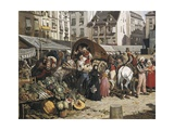 Market and Fountain of the Innocents, Paris 1823 Prints by John James Chalon