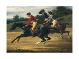 Horse Race Print by Théodore Géricault